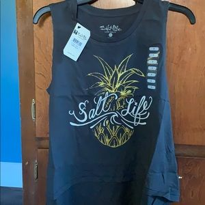 Woman's Salt Life pineapple tank Top size small